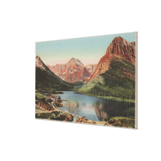Glacier, MT - View of the Many Glacier Region Canvas Print