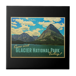 Glacier National Park Ceramic Tile