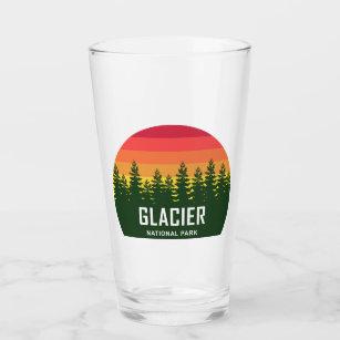 Glacier National Park Montana Animals Novelty 16oz Pint Drinking Glass Set
