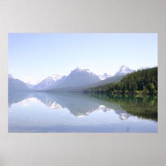 Glacier National Park Lake McDonald Reflections Poster