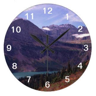 Glacier National Park Large Clock