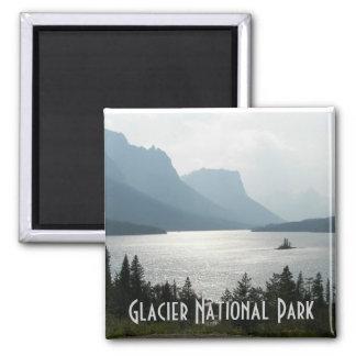 Glacier National Park 2 Inch Square Magnet