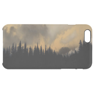 Glacier National Park Menacing Sky and Trees Clear iPhone 6 Plus Case