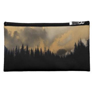 Glacier National Park Menacing Sky and Trees Cosmetic Bag