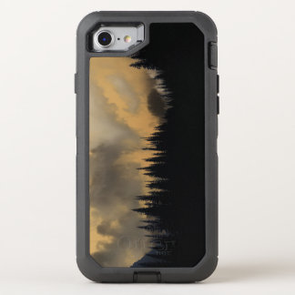 Glacier National Park Menacing Sky and Trees OtterBox Defender iPhone 7 Case