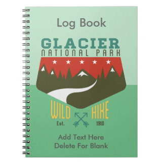 Glacier National Park Montana Notebook