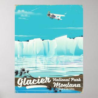 Glacier National Park, Montana vintage poster