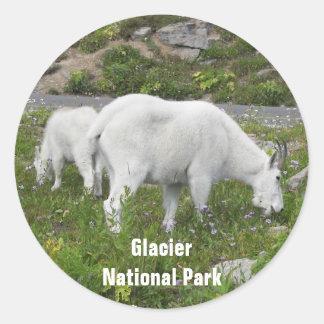 Glacier National Park Mountain Goat Classic Round Sticker