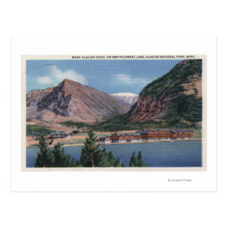 Glacier National Park, MT - Many Glacier Hotel 2 Postcard