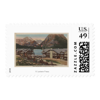 Glacier National Park, MT - Many Glacier Hotel Postage Stamps
