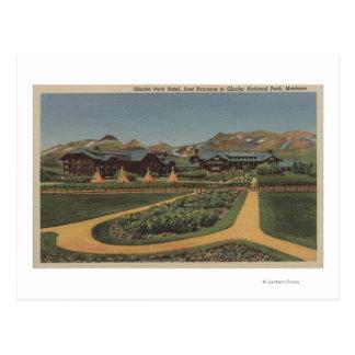 Glacier National Park, MT - Park Hotel East Postcard