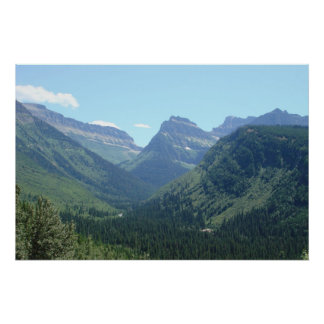 Glacier National Park Peaks Print