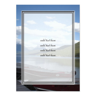 Glacier National Park photography. 5.5x7.5 Paper Invitation Card