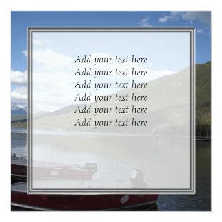 Glacier National Park photography. 5.25x5.25 Square Paper Invitation Card
