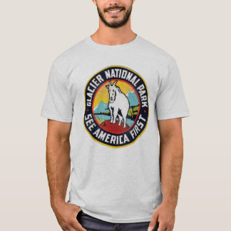 Glacier National Park See America First T-Shirt