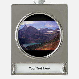 Glacier National Park Silver Plated Banner Ornament