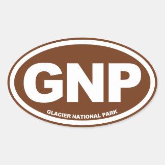 Glacier National Park Oval Sticker