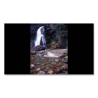 Glacier National Park Waterfall Business Card Magnet