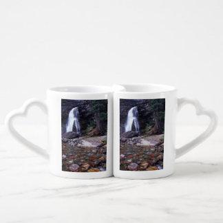 Glacier National Park Waterfall Coffee Mug Set