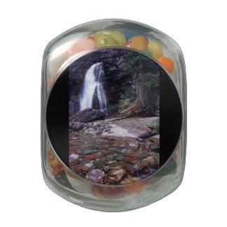 Glacier National Park Waterfall Glass Jar