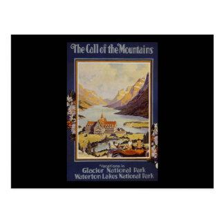 Glacier National Park Waterton Lakes Postcard
