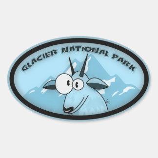 Glacier Natl Park Oval Oval Sticker