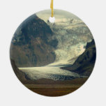 Glacier on Iceland Ornament Adorno Navideño Redondo De Cerámica