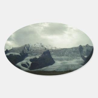 Glacier Oval Sticker