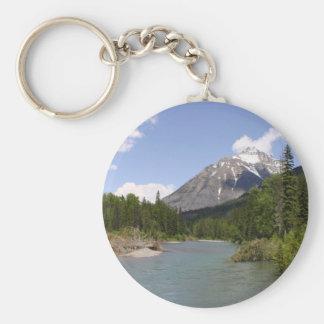 Glacier Park Rivers and Peaks Key Chain