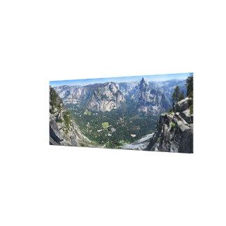 Glacier Point Panorama - Yosemite Valley Canvas Print