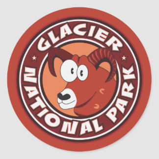 Glacier Ram Circle Classic Round Sticker