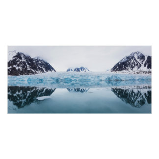 Glacier reflections, Norway Poster