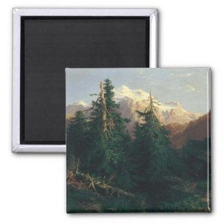 Glacier, Rosen Lanigletscher, 1854 2 Inch Square Magnet