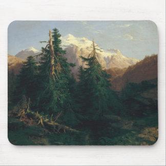 Glacier, Rosen Lanigletscher, 1854 Mouse Pad