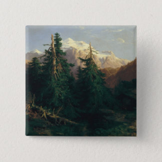 Glacier, Rosen Lanigletscher, 1854 Pinback Button