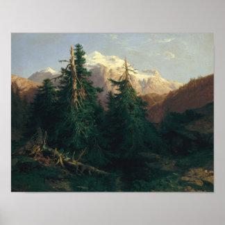 Glacier, Rosen Lanigletscher, 1854 Poster