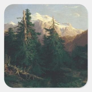 Glacier, Rosen Lanigletscher, 1854 Square Sticker