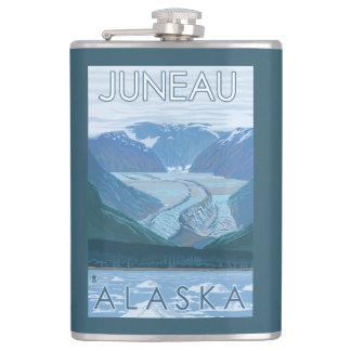 Glacier Scene - Juneau, Alaska Flask