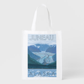 Glacier Scene - Juneau, Alaska Grocery Bag