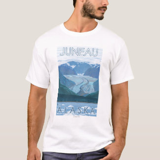 Glacier Scene - Juneau, Alaska T-Shirt