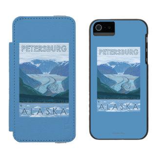 Glacier Scene - Petersburg, Alaska iPhone SE/5/5s Wallet Case