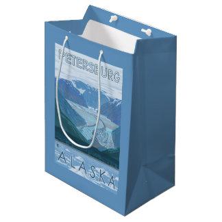 Glacier Scene - Petersburg, Alaska Medium Gift Bag