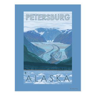 Glacier Scene - Petersburg, Alaska Postcard