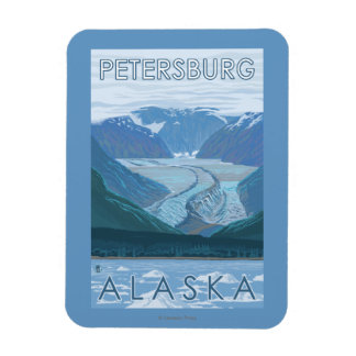 Glacier Scene - Petersburg, Alaska Rectangular Photo Magnet