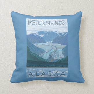 Glacier Scene - Petersburg, Alaska Throw Pillow