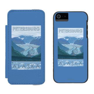 Glacier Scene - Petersburg, Alaska Wallet Case For iPhone SE/5/5s