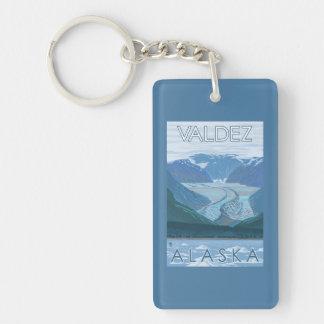 Glacier Scene - Valdez, Alaska Double-Sided Rectangular Acrylic Keychain