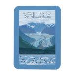 Glacier Scene - Valdez, Alaska Rectangular Photo Magnet