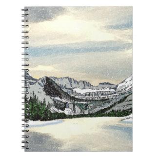 Glacier Snow Notebook