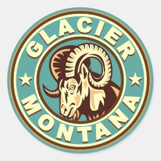 Glacier Vintage Circle Sticker